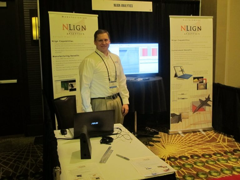 Joe Kesler in the NLign booth at the 2016 ASIP Conference